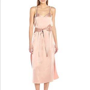 Halston Heritage Double Strap Satin Slip Dress